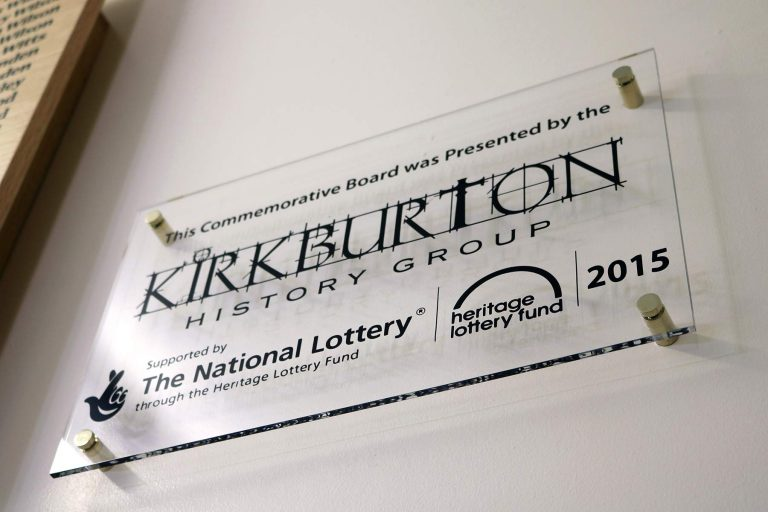 Kirkburton History Group Plaque