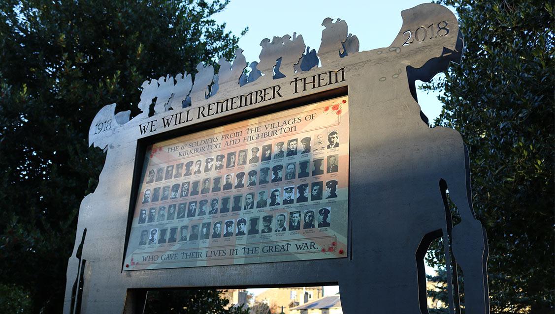 WW1 - Remembrance memorial